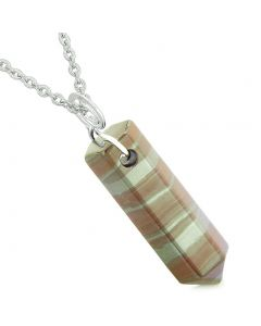 Amulet Lucky Crystal Point Spiritual Protection Power Wand Charm Dragon Eye Iron Pendant 18 inch Necklace