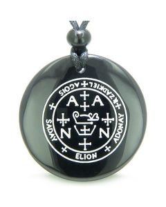 Sigil of the Archangel Zadkiel Magic Amulet Gemstone Spiritual Powers Pendant Necklace