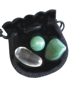 Aventurine Money Talisman Marble And Crystals Pouch