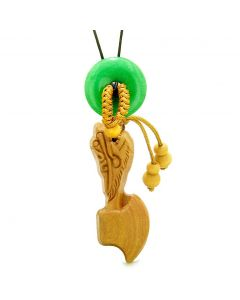 Axe Good Luck Car Charm or Home Decor Green Quartz Lucky Coin Donut Protection Powers Amulet