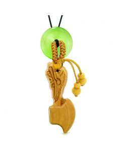 Axe Good Luck Car Charm or Home Decor Green Simulated Cats Eye Lucky Coin Donut Protect Amulet