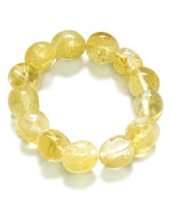 Amulet Healing Citrine Tumbled Crystals Natural Powers Gemstone Bracelet
