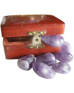 Wish Box Treasure Chest With Amethyst Crystals
