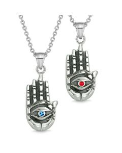 All Seeing Feeling Buddha Eye Love Couples Best Friends Amulets Blue Red Pendant Necklaces