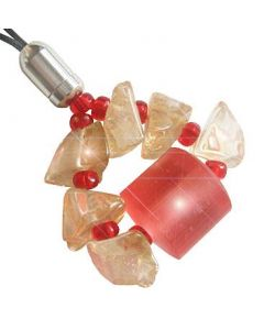 A Good Luck Money Talisman Charm In Citrine