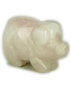 Love Talisman Rose Quartz Pig Gemstone Carving