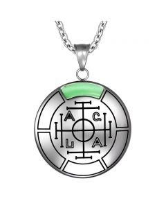 Fortune Wealth and Success Magic Medallion Amulet Pendant Necklace