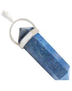 Good Luck Talisman Sterling Silver Pendant In Lapis Lazuli
