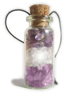 Amethyst Talisman Bottle Car Hanger