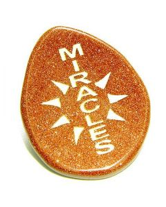 Sun Energy Goldstone Miracles Amulet Wish Gemstone