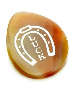 Agate Good Luck Talisman Word Stone Lucky Horse Shoe