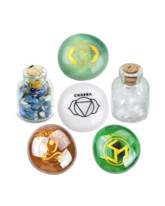 Brow Om Third Eye Chakra Positive Healing Inspirational Amulets Glass Stones Lapis Quartz Bottles