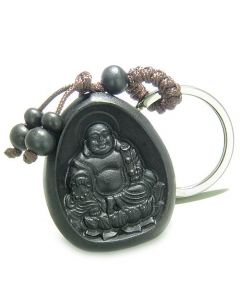 Amulet Sandal Wood Magic Forever Happy Buddha Lucky Lotus Flower Lucky ProtectiKeychain Charm