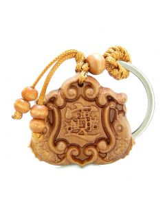 Amulet Double Lucky Fortune Fish Magic Plaque Charms Feng Shui Symbols Keychain Blessing