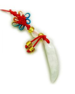 Good Luck And Protection Talisman Jade Horn Cell Phone Charm