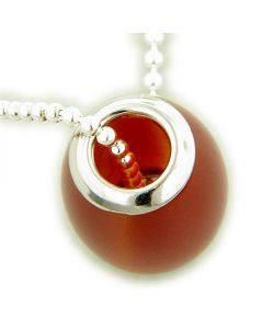 Amulet Good Luck Jade Red 925 Silver Charm Pendant