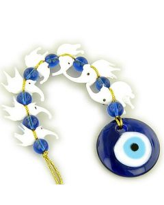 Evil Eye Protection And Seven Lucky Elephants Glass Blessing