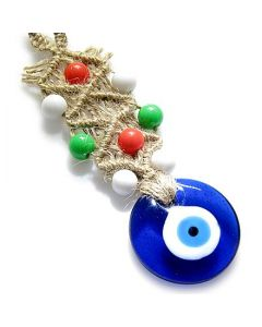 Evil Eye Protection Glass Hand Knitted Charm And Blessing