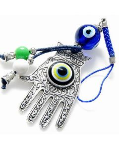 Evil Eye Protection Hamsa Hand Charm And Blessing