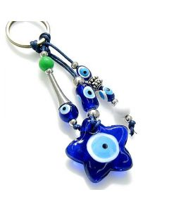 Evil Eye Protection Star Keychain And Blessing
