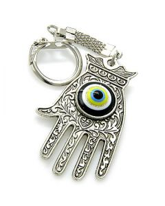 Evil Eye Protection Hamsa Hand Keychain
