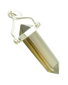 Good Luck Talisman Natural Agate 925 Silver Pendant