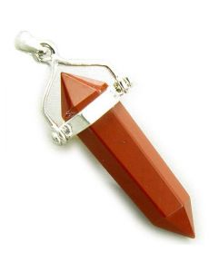 Believe Will Power Talisman Red Jasper 925 Silver Pendant
