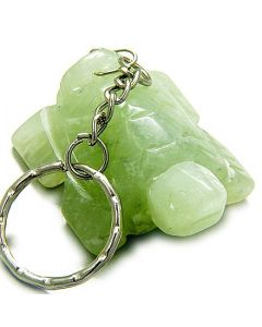 A Good Luck Talisman Lucky Turtle Light Green Jade Keychain
