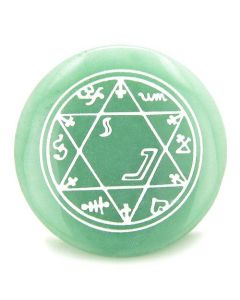 Magic Hexagram Amulet Gemstone Circle Spiritual Powers Individual Totem
