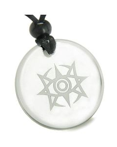 Amulet Celestial Eye Supernatural Minrozian Empire Protection Quartz Medallion Pendant Necklace