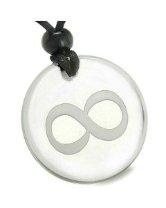 Amulet Eternity Infinity Possibilities Magic Protection Quartz Medallion Necklace
