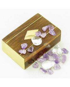 Small Treasure Chest Travel Protection Wish Box With Amethyst
