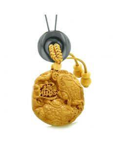 Fortune Coins Magic Todd Car Charm or Home Decor Black Agate Lucky Donut Protection Powers Amulet