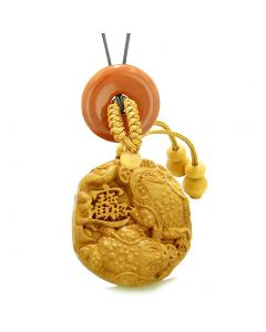 Fortune Coins Magic Todd Car Charm or Home Decor Red Jasper Lucky Donut Protection Powers Amulet