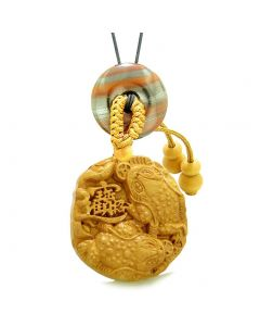 Fortune Coins Magic Todd Car Charm or Home Decor Dragon Eye Iron Lucky Donut Protection Powers Amulet