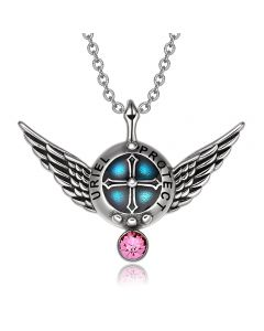 Archangel Uriel Angel Wings Shield Protection Magic Power Amulet Pendant Necklace