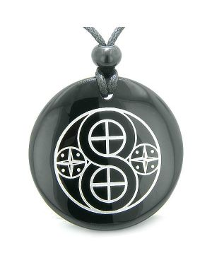 Amulet of Infinite Creation Powers Manifestation Materializations Onyx Magic Spiritual Necklace