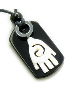Buddha Lucky and Protection Infinity Hand Magic Amulet Tag Necklace