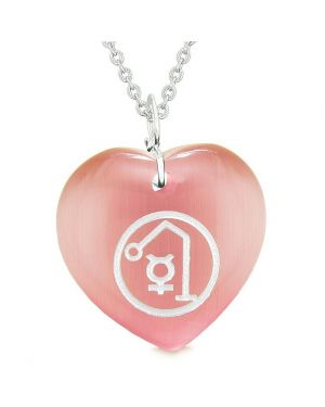 Archangel Raphael Sigil Magic Planet Energy Amulet Puffy Heart Pendant Necklace