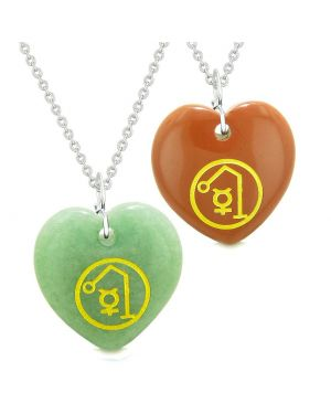 Archangel Raphael Sigil Amulets Love Couples or Best Friends Set Necklaces