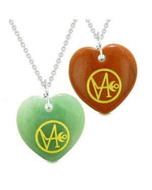 Archangel Gabriel Sigil Amulets Love Couples or Best Friends Set Necklaces