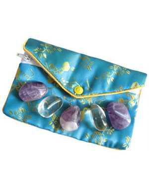 Amethyst And Crystals Talisman Pouch