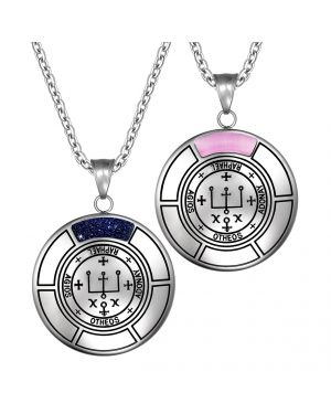 Sigil Of Archangel Raphael Love Couples Amulet Set Necklaces