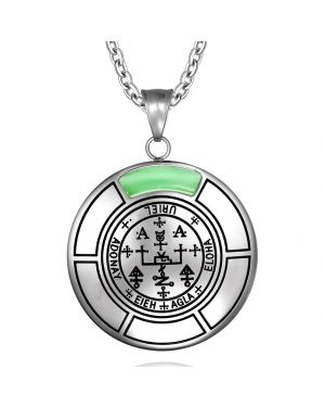 Sigil of Archangel Uriel Magic Medallion Angel Amulet Pendant Necklace