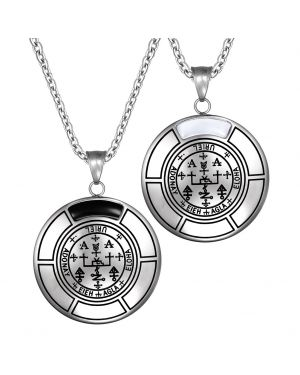 Sigil Of Archangel Uriel Love Couples Amulet Set Necklaces