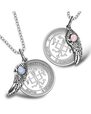Love Couples Archangel Gabriel Sigil Magic Wings Amulets Set