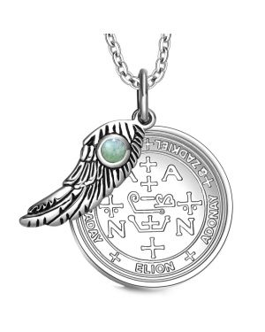 Archangel Zadkiel Sigil Magic Wing Amulet
