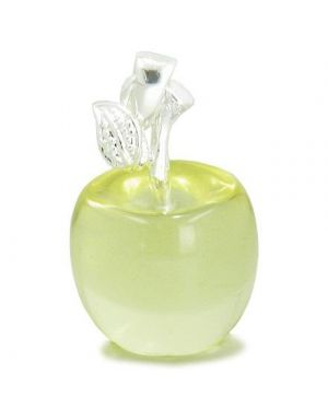 Apple Pendant In Citrine Silver Business Attractor Talisman