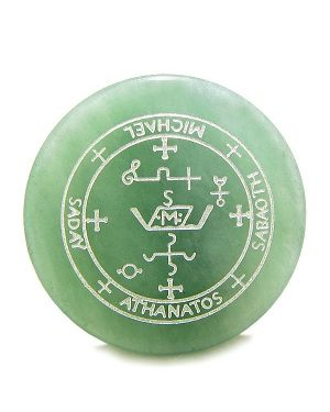 Sigil of the Archangel Michael Magic Amulet Green Aventurine Magic Spiritual Powers Keepsake Totem