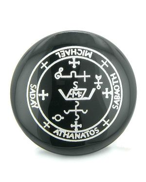 Sigil of the Archangel Michael Magical Amulet Black Onyx Spiritual Powers Keepsake Totem